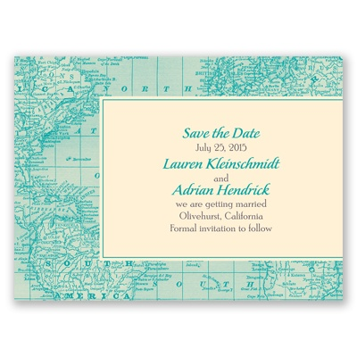 Classic Map - Save the Date Card