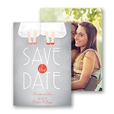 Dancing Shoes - Mrs and Mrs - Save the Date Card