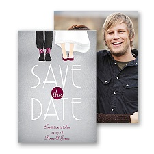 Dancing Shoes - Mr and Mrs - Save the Date Card