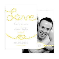 En-Twined in Love - Citrus - Save the Date Card