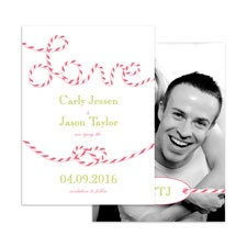 En-Twined in Love - Posie Pink - Save the Date Card