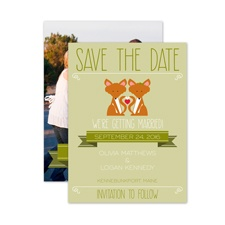 Foxy - Save the Date Card