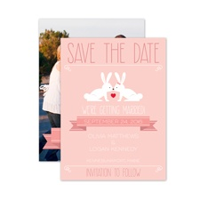 Hunny Bunny - Save the Date Card