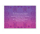 Henna Floral - Grapevine - Reception Card
