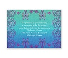 Henna Floral - Peacock - Reception Card