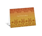 Henna Floral - Tango - Note Card and Envelope