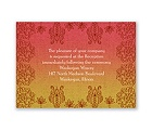 Henna Floral - Tango - Reception Card