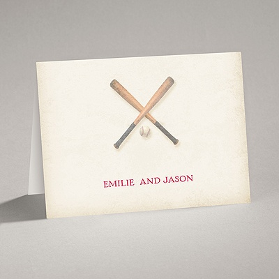 Love for Baseball - Note Card and Envelope