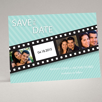 In Pictures - Aqua - Save the Date Card