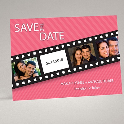 In Pictures - Posie Pink - Save the Date Card