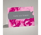 Romantic Camo - Fuchsia - Note Card and Envelope