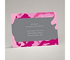 Romantic Camo - Fuchsia - Reception Card