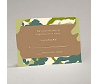 Romantic Camo - Moss Green - Response Card and Envelope