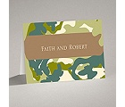 Romantic Camo - Moss Green - Note Card and Envelope