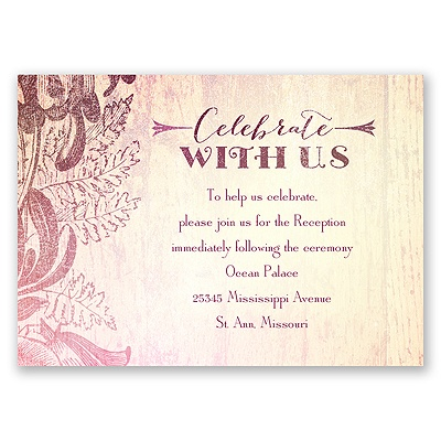 Antique Charm - Cotton Candy - Reception Card