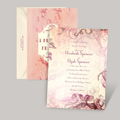 Vintage Vow Renewal Invitations At Invitations By Dawn