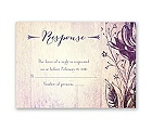 Antique Charm - Lavender - Response Card and Envelope