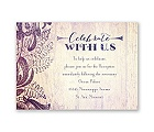 Antique Charm - Lavender - Reception Card