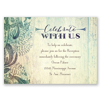 Antique Charm - Surf - Reception Card