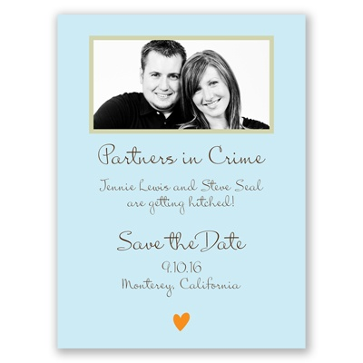 Partners in Crime - Save the Date Card