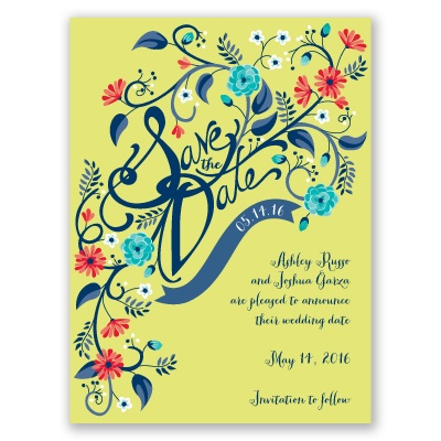 Floral Fancy - Granny Apple - Save the Date Card