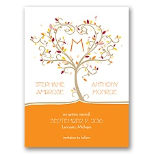 Autumn Flourish - Save the Date Card