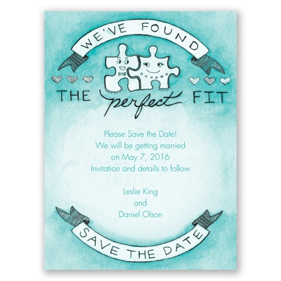 The Perfect Fit - Save the Date Card
