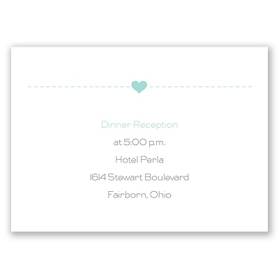 State Your Love - Reception Card