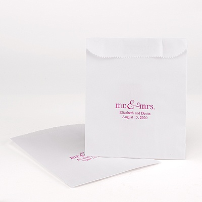 White Cake Bags - personalized