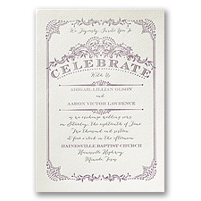 Vintage Celebration - Ecru - Featherpress Invitation