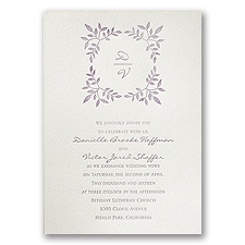 Forever Joined - Ecru - Featherpress Invitation