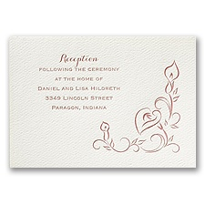 Contemporary Callas - Ecru - Featherpress Reception Card