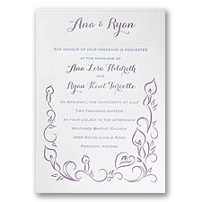 Contemporary Callas - White - Featherpress Invitation