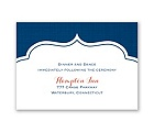Peeking Flowers - Reception Card