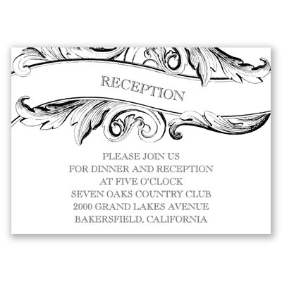 Simply Sweet - Reception Card
