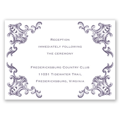 Filigree Corners - Reception Card
