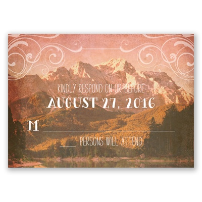 Rustic Reflections - Response Card and Envelope