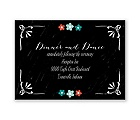 Chalkboard Flowers - Reception Card