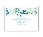 Flowering Faith - Aqua - Reception Card