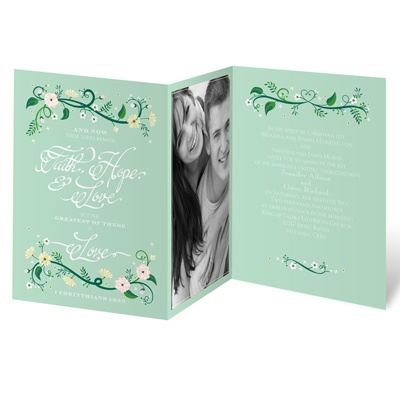 Flowering Faith - Kelly Green - Invitation
