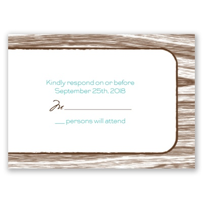 Gettin' Hitched - Response Card and Envelope