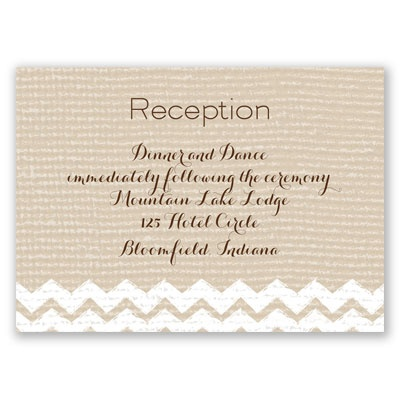 Painted Burlap - Reception Card