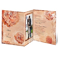 Timeless Peonies - Terra Cotta - Invitation