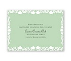 White Flourishes - Kelly Green - Reception Card