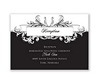 Victorian Flourish - Reception Card