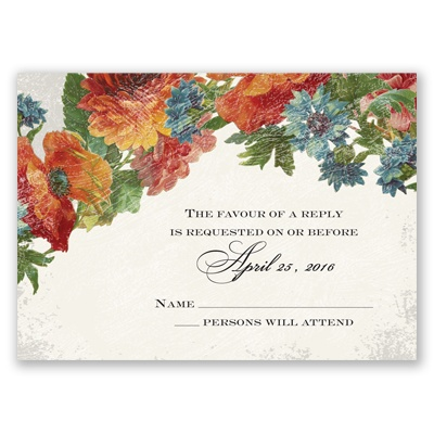 Floral Fantasy - Response Card and Envelope