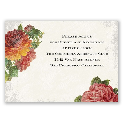 Floral Fantasy - Reception Card