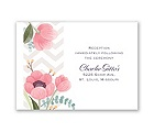 Chevron Floral - Reception Card