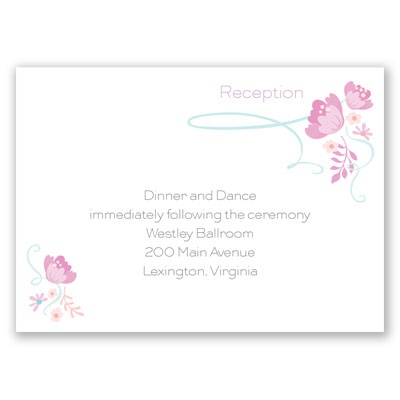 Retro Love - Bubble Gum - Reception Card