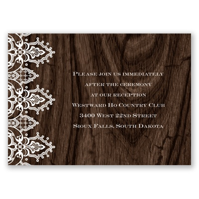 Romantic Finish - Reception Card